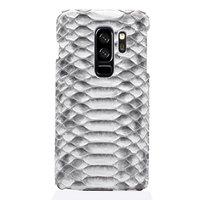 Белый чехол из кожи змеи для Samsung Galaxy S9 Plus питон