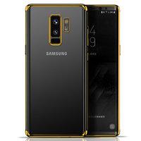 Прозрачный силиконовый чехол для Samsung Galaxy S9 Plus золотой край