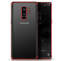 Прозрачный силиконовый чехол для Samsung Galaxy S9 Plus красный бампер