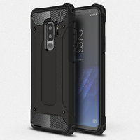 Черный силиконовый защитный чехол для Samsung Galaxy S9 Plus противоударный пластик