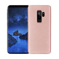 Чехол карбоновый для Samsung Galaxy S9 Plus розовое золото