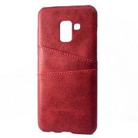 Красная кожаная накладка для Samsung Galaxy S9