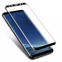 Противоударное защитное 3D стекло для Samsung Galaxy S9+ Plus черная рамка