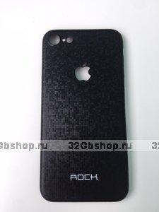Черный ультратонкий чехол ROCK для iPhone 7 / 8 - Ultra Thin 0.3 mm Plastic Case Black рисунок карбон