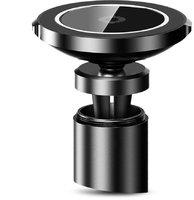 Черное автомобильное быстрое беспроводное Qi зарядное устройство для Samsung Galaxy S9  / S9+ Plus - Baseus Big Ears Car Mount Wireless Charger Black /2A, 9V/1.7A