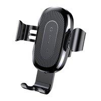 Автомобильное беспроводное быстрое зарядное устройство Samsung Galaxy S9 / S9 Plus черное - Baseus Wireless Charger Gravity Car Mount 5V/2A, 9V/1.7A