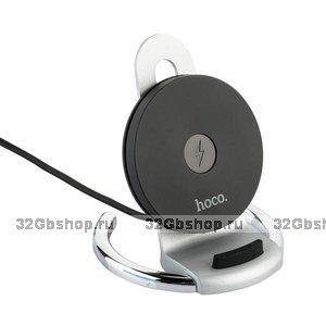 Серебристое быстрое беспроводное зарядное устройство для Samsung Galaxy S9 / S9+ подставка - Hoco Enjoy Tabletop Wireless Charging Silver 5-9V-2A