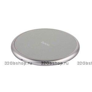 Серое беспроводное зарядное устройство для Samsung Galaxy S9 / S9+ - Hoco Round Wireless Charging Gray 5V-2A