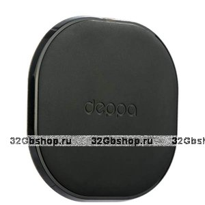 Черная быстрая беспроводная зарядка для Samsung Galaxy S9 / S9 Plus -  Deppa Qi Fast Charger 10Вт 5V 1A / 9V 1.1A