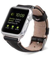 Ремешок кожаный Melkco для Apple Watch 42мм Черный