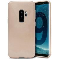Золотой силиконовый чехол для Samsung Galaxy S9+ Plus - J-Case Ultra Thin 0.5mm TPU Case Gold