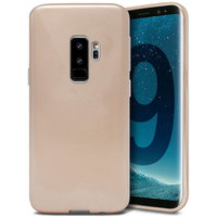 Золотой силиконовый чехол для Samsung Galaxy S9+ Plus - J-Case Ultra Thin 0.5mm TPU Case Gold