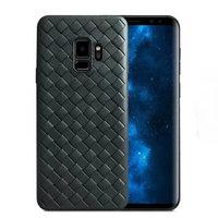 Черный силиконовый чехол для Samsung Galaxy S9 рисунок плетение