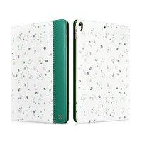 Зеленый кожаный чехол с рисунком для iPad Pro 10.5 цветы - XOOMZ Fresh Series Leather Folio Case Green