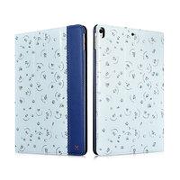 Голубой кожаный чехол с рисунком для iPad Pro 10.5 цветы - XOOMZ Fresh Series Leather Folio Case Blue