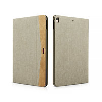 Бежевый тканевый чехол для iPad Pro 10.5 - XOOMZ Simple Fabric Material Made Folio Cover Erudition Series Beige