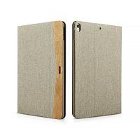 Бежевый тканевый чехол для iPad Pro 10.5 - XOOMZ Simple Fabric Material Made Folio Cover Erudition Series Beige