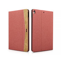 Красный тканевый чехол книга для iPad Pro 10.5 - XOOMZ Simple Fabric Material Made Folio Cover Erudition Series Red