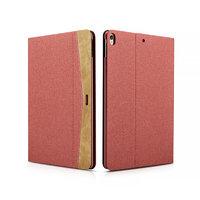 Красный тканевый чехол книга для iPad Pro 10.5 - XOOMZ Simple Fabric Material Made Folio Cover Erudition Series Red