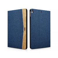 Синий тканевый чехол книжка для iPad Pro 10.5 - XOOMZ Simple Fabric Material Made Folio Cover Erudition Series Blue