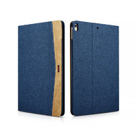 Синий тканевый чехол книжка для iPad Pro 10.5 - XOOMZ Simple Fabric Material Made Folio Cover Erudition Series Blue