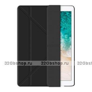 Черный чехол книжка для iPad Pro 10.5 - Deppa Wallet Onzo Soft Touch 1.0мм Black