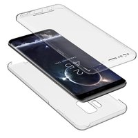 Прозрачный двухсторонний силиконовый чехол для Samsung Galaxy S9
