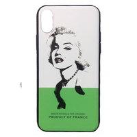 Cиликоновый чехол для iPhone X с рисунком Мэрилин Монро - Marilyn Monroe