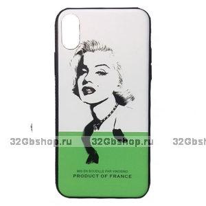 Cиликоновый чехол для iPhone X / Xs с рисунком Мэрилин Монро - Marilyn Monroe