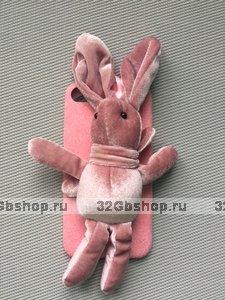 Чехол для iPhone 7 / 8 с игрушкой розовый Кролик