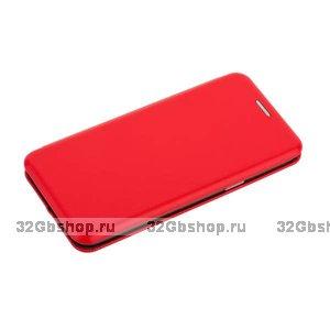 Красный кожаный чехол-книжка для Samsung Galaxy S9 - Fashion Case Slim-Fit Red