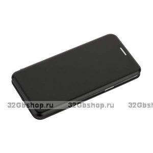 Черный кожаный чехол-книга для Samsung Galaxy S9 - Fashion Case Slim-Fit Black