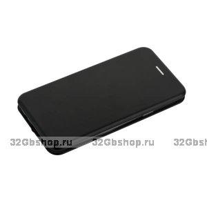 Черный кожаный чехол книга для Samsung Galaxy S9 Plus - Fashion Case Slim-Fit Wallet Card Book Black
