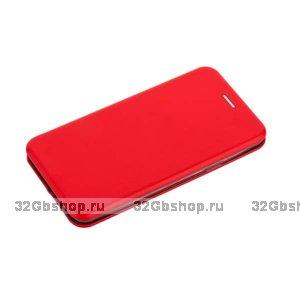 Красный кожаный чехол книга для Samsung Galaxy S9 Plus - Fashion Case Slim-Fit Wallet Card Book Red