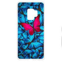 Прозрачный силиконовый чехол для Samsung Galaxy S9 с рисунком бабочка