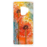 Прозрачный силиконовый чехол для Samsung Galaxy S9 с рисунком одуванчик