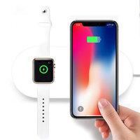 Беспроводное зарядное устройство COTEetCI для одновременной зарядки iPhone X / 8 и Apple Watch - Wireless Daul Charger (13W)