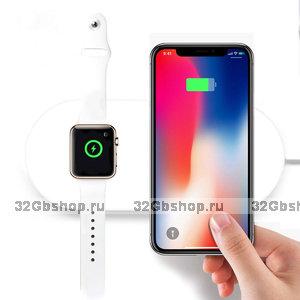 Беспроводное зарядное устройство COTEetCI для одновременной зарядки iPhone X / Xs / 8 и Apple Watch - Wireless Daul Charger (13W)