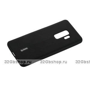 Черный матовый силиконовый чехол накладка для Samsung Galaxy S9+ Plus