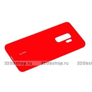 Красный матовый силиконовый чехол для Samsung Galaxy S9+ Plus