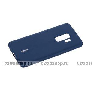 Синий матовый силиконовый чехол для Samsung Galaxy S9+ Plus