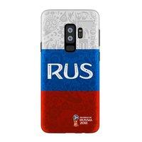 Пластиковый чехол для Samsung Galaxy S9+ Plus ЧМ по футболу флаг России - Deppa FIFA™ Flag Russia