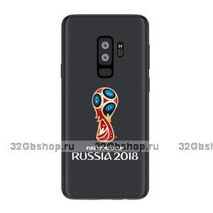 Пластиковый чехол для Samsung Galaxy S9+ Plus эмблема ЧМ по футболу - Deppa FIFA™ Official Emblem