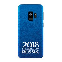 Синий силиконовый чехол для Samsung Galaxy S9 логотип ЧМ по футболу - Deppa FIFA™ Official Logotype
