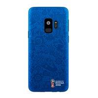 Синий пластиковый чехол для Samsung Galaxy S9 ЧМ по футболу - Deppa FIFA™ Official Pattern Blue