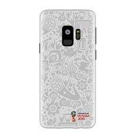 Белый пластиковый чехол для Samsung Galaxy S9 ЧМ по футболу - Deppa FIFA™ Official Pattern White