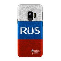 Пластиковый чехол для Samsung Galaxy S9 флаг России ЧМ по футболу - Deppa FIFA™ Flag Russia