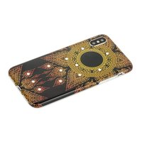 Силиконовый чехол со стразами для iPhone X 10 золотой узор - Beckberg Surpassingly Beautiful Series Black
