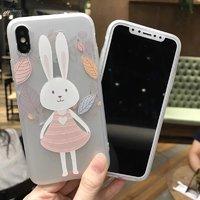 Силиконовый чехол для iPhone X 10 с рисунком кролик