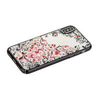 Пластиковый чехол со стразами для iPhone X / Xs 10 черный край Beckberg Pretty Series Black